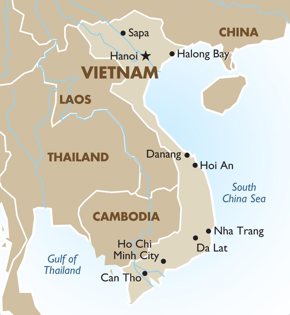 Carte Vietnam - Destination Asie